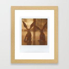 Rabbit Rabbit Framed Art Print
