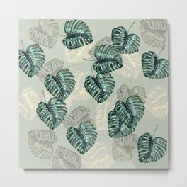 Philodendron Leaves Metal Print