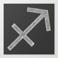 sagittarius Canvas Prints featuring Sagittarius by David Zydd