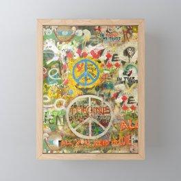 Peace Sign - Love - Graffiti Framed Mini Art Print