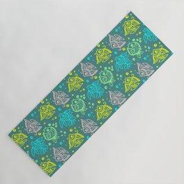 Fishes Batik Style Seamless Pattern Yoga Mat