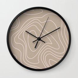 Line Art Waves Wall Clock