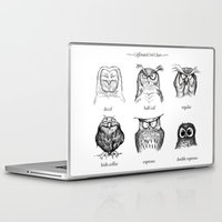 coffee Laptop & iPad Skins featuring Caffeinated Owls by Dave Mottram