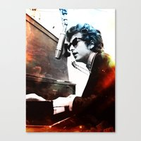 bob dylan Canvas Prints featuring Bob Dylan by Maioriz Home