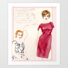 Joan Holloway Art Print
