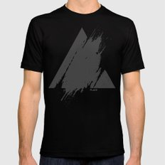 PLACE Triangle Black MEDIUM Mens Fitted Tee