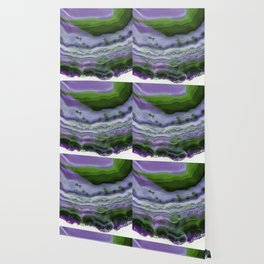 Purple and Green Agate Wallpaper