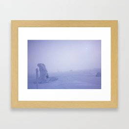 Snow 1.0 Framed Art Print
