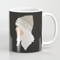 feminist Mugs featuring Feminist (Silver) by Anna McKay