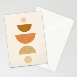 Abstraction_Geometric_Shape_Moon_Sun_Minimalism_001D Stationery Cards