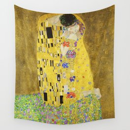 Gustav Klimt  - The Kiss -  Art Nouveau Wall Tapestry