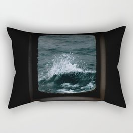 Wave out of a window of a ship – Minimalist Oceanscape Rectangular Pillow