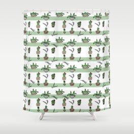 Cacti, cactus, graphic Shower Curtain