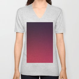 DEEP DISTILLED - Minimal Plain Soft Mood Color Blend Prints Unisex V-Neck