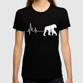 My Heart Beats For Chimpanzees Heartbeat T-shirt