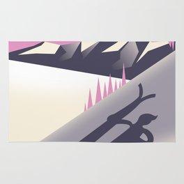 Mt. Hotham Victoria Alps Ski poster Rug