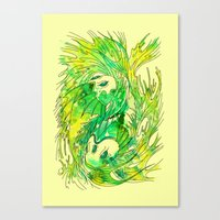 pisces Canvas Prints featuring pisces by Steven Toang