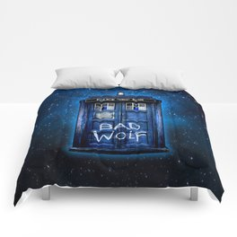Tardis doctor who with Bad wolf graffiti iPhone 4 4s 5 5s 5c, ipod, ipad case Comforters