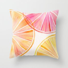 Summer Citrus Party Throw Pillow