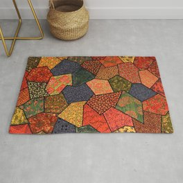 Japanese colorful quilt patchwork Rug