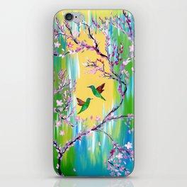 Green print iPhone Skin