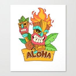 Awesome Aloha Tiki Gift Design Hawaiian Island Vacation Print Canvas Print