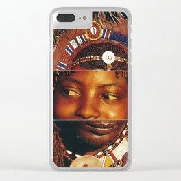 Face Swap III Clear iPhone Case