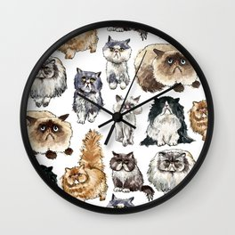 Disappointed Cats Wall Clock