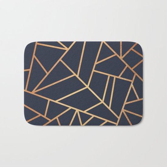 Copper and Midnight Navy Bath Mat