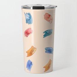 Brush Strokes// Watercolor Strokes// Watercolor marks Travel Mug