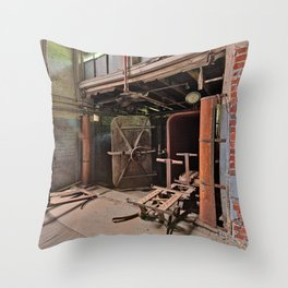 Abandoned Lonaconing Silk Mill Throw Pillow
