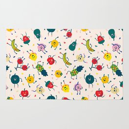 Happy fruits pattern Rug