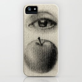 The eye and the apple iPhone Case