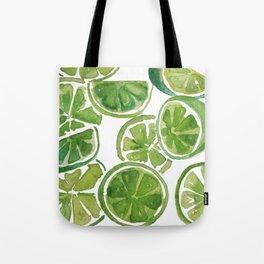 Watercolor LIMES Tote Bag