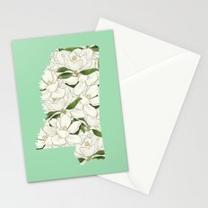 Mississippi in Flowers Stationery Cards