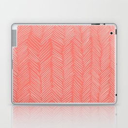 Living Coral Herringbone Happiness Laptop & iPad Skin
