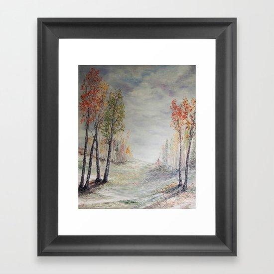 Peace among the Birch Trees Framed Art Print