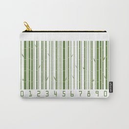 Bamboo Barcode Carry-All Pouch