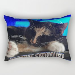 Sleeping Cat - Venture Catipalist Rectangular Pillow