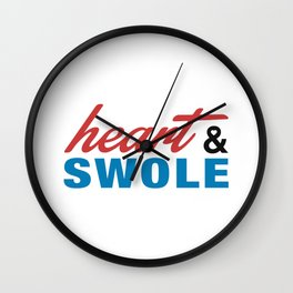 Heart & Swole Wall Clock