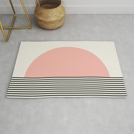 Sunrise / Sunset II - Pink & Black Rug