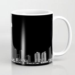 Toronto Skyline - White on Black Coffee Mug