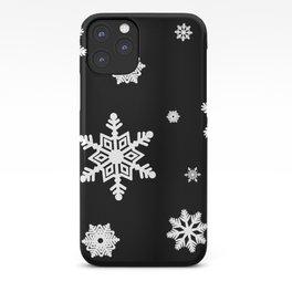 Snowflakes | Black & White iPhone Case
