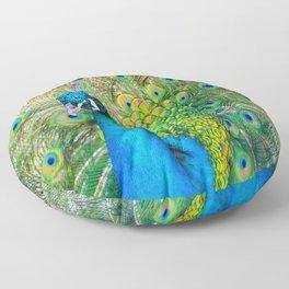 Beautiful Peacock (Color) Floor Pillow