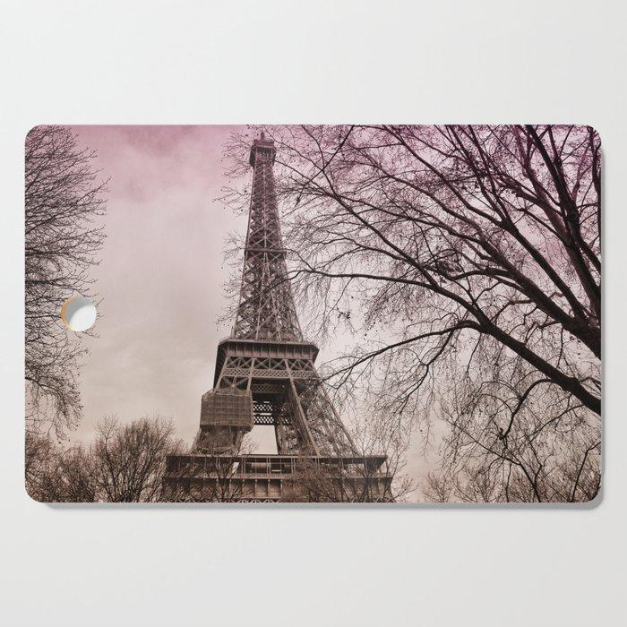 Eiffel Tower Paris in pink Cutting Board