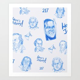 Here's Johnny! | Ice Art Print