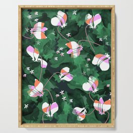 Cyclamen Spring Flowers Print Serving Tray