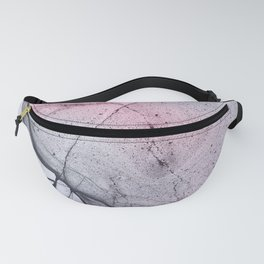 Urban Pink and Grey Marble Pattern Fanny Pack