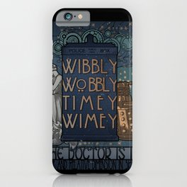 art nouveau TARDIS iPhone Case