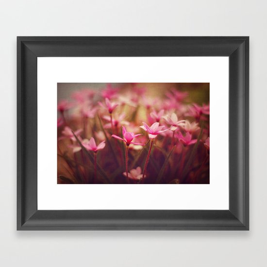 Pink prettiness Framed Art Print